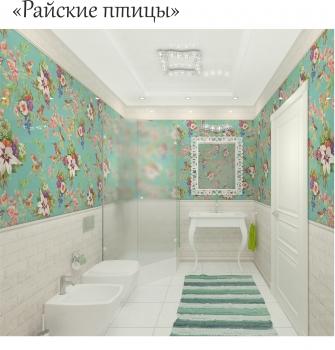 """Стеновые панели """"PANDA""""  """"Райские птицы""""  арт. 00910"""