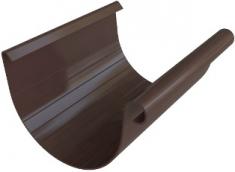 Жёлоб водосточный ПВХ, цвет коричневый, длина-4м,-диаметр-125-мм