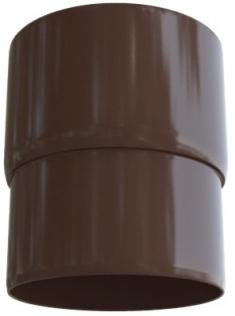 Муфта трубы ПВХ, цвет Коричневый 74мм